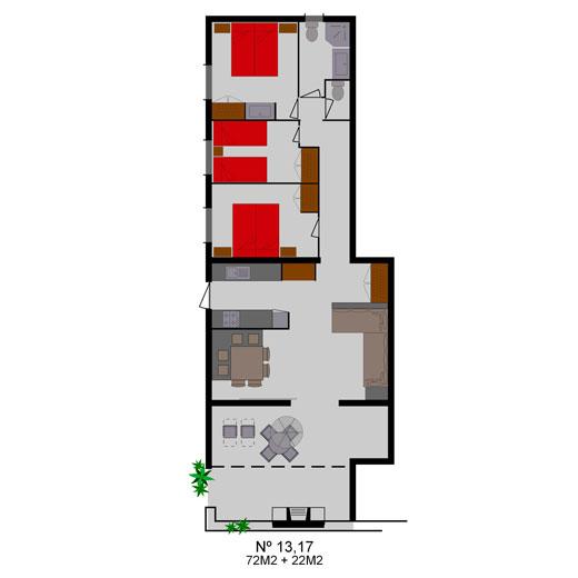 Appartementen met 3 slaapkamers - Casa Caliente